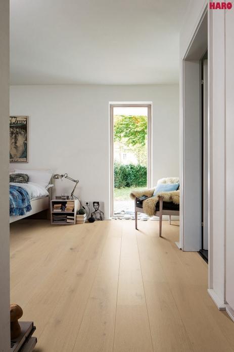 528139 haro parkett landhausdiele 4000 eiche salinweiss gekalkt sauvage strukturiert 2v fase. Black Bedroom Furniture Sets. Home Design Ideas