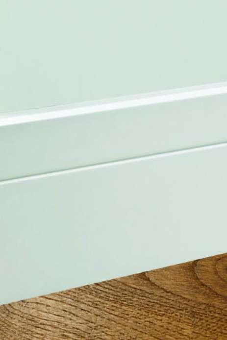 1175 i do fussleiste weiss lackiert mit ziernut 16 x 100 mm. Black Bedroom Furniture Sets. Home Design Ideas
