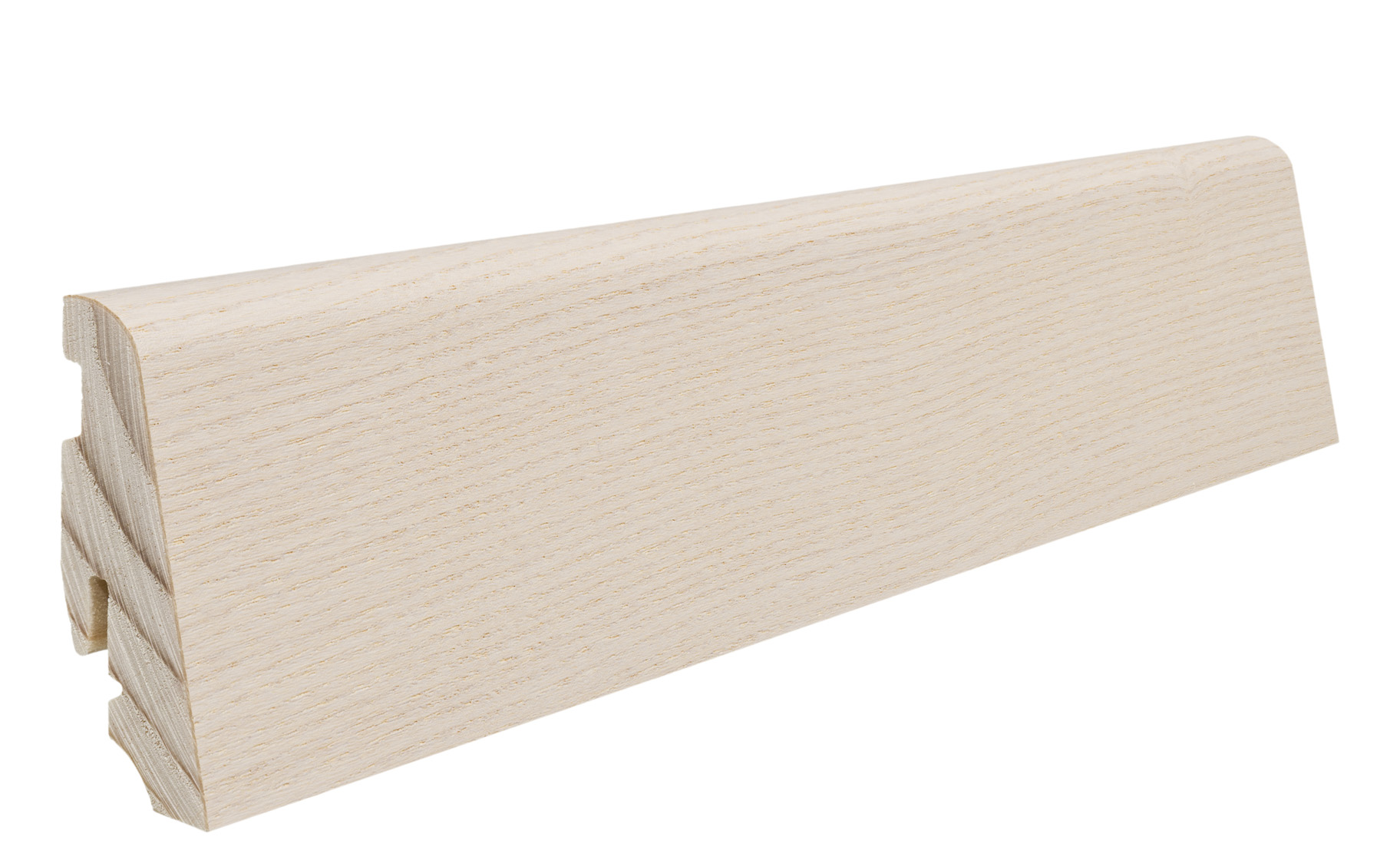 408684 haro fussleiste esche arcticweiss lackiert 19 x 58 mm. Black Bedroom Furniture Sets. Home Design Ideas