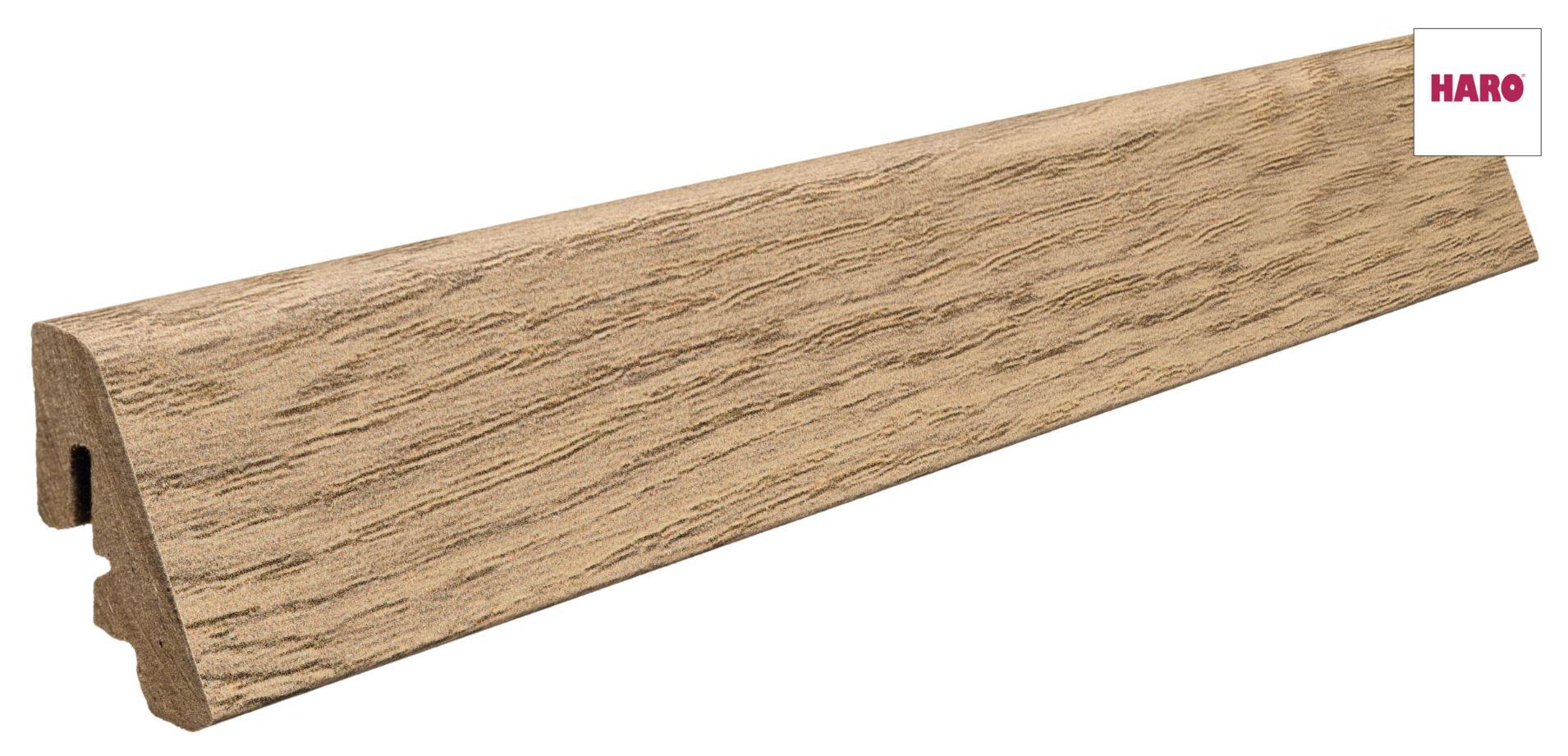 409054 haro fussleiste f r korkboden corkett arteo eiche creme 19 x 39 mm. Black Bedroom Furniture Sets. Home Design Ideas