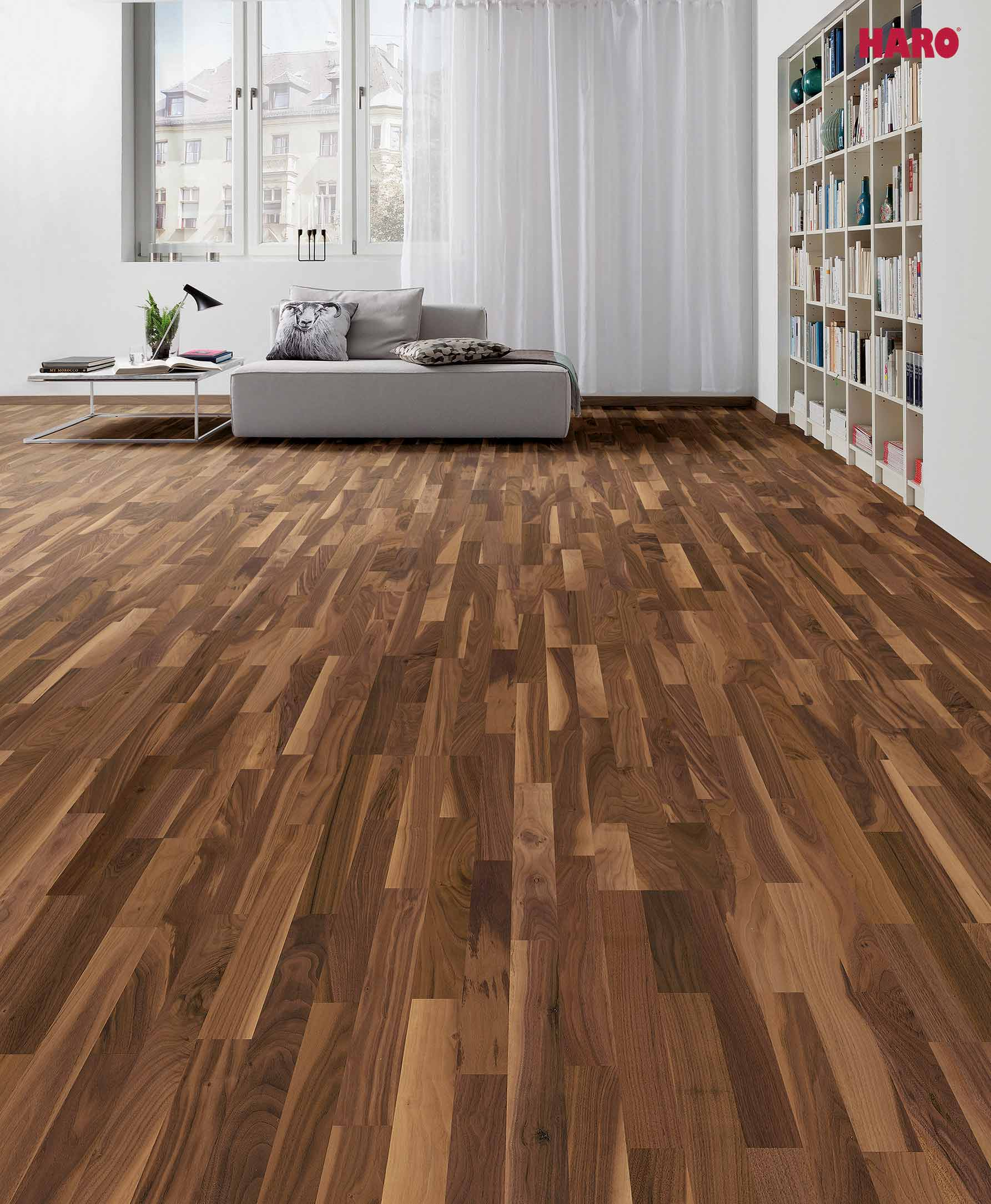 parkett nussbaum warmes ambiente daedelow parkett. Black Bedroom Furniture Sets. Home Design Ideas
