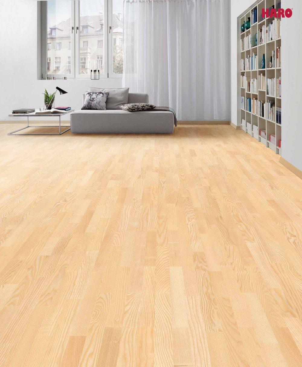 524642 haro parkett 3 stab schiffsboden 4000 esche trend lackiert. Black Bedroom Furniture Sets. Home Design Ideas