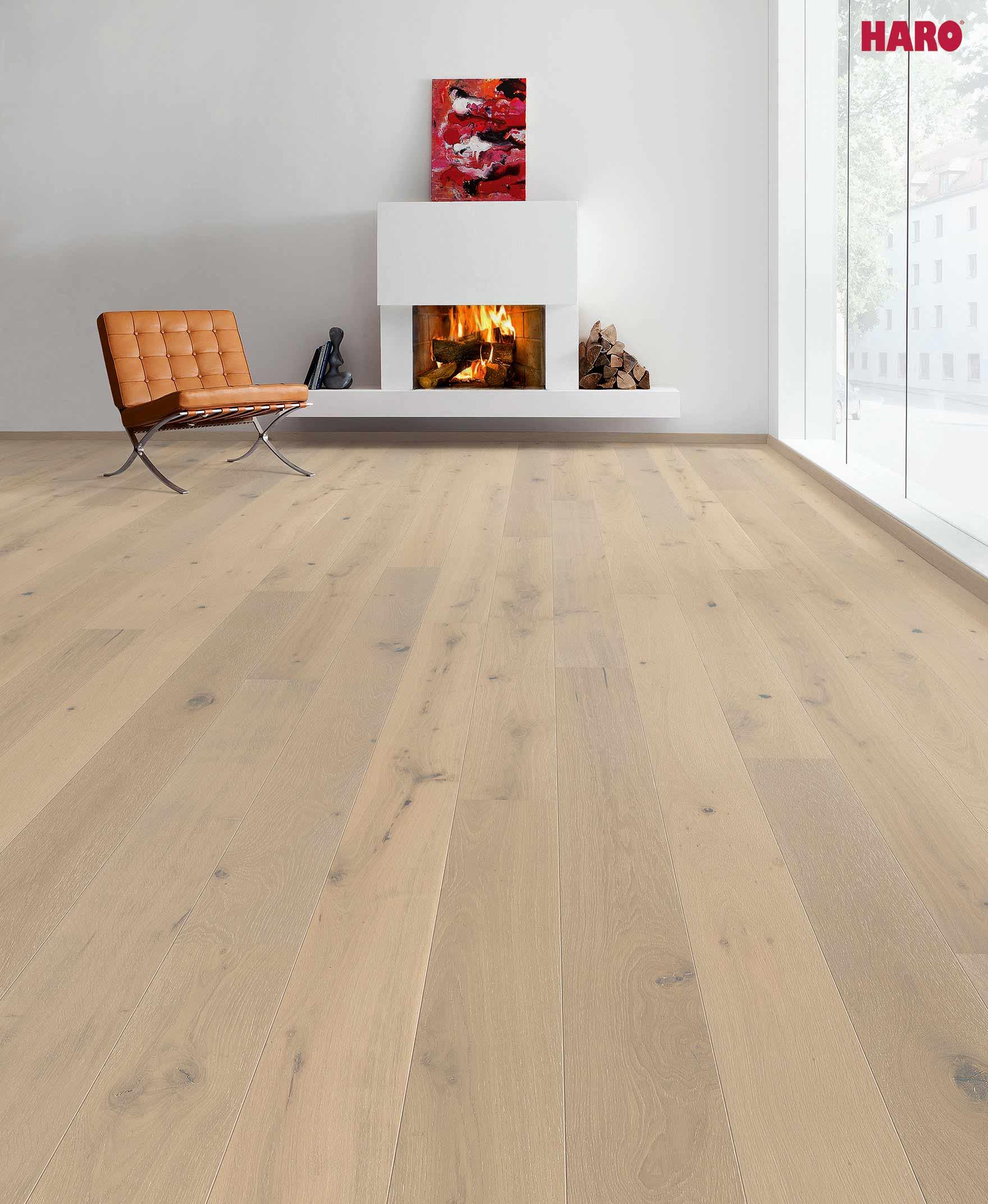528140 haro parkett landhausdiele 4000 eiche perlgrau gekalkt sauvage rustico strukturiert 2v. Black Bedroom Furniture Sets. Home Design Ideas