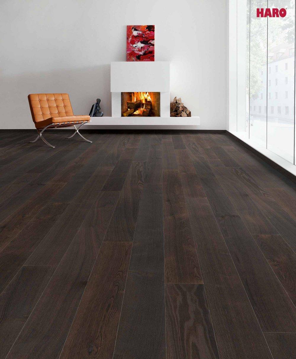 528674 haro parkett landhausdiele 4000 achateiche schwarz eiche strukturiert 4v fase naturalin. Black Bedroom Furniture Sets. Home Design Ideas