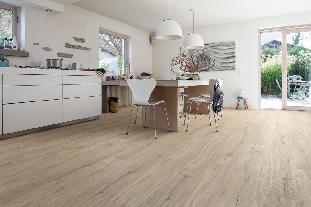 vinylboden kuche kche grau auf hdf trger bis mm dick steinoptik