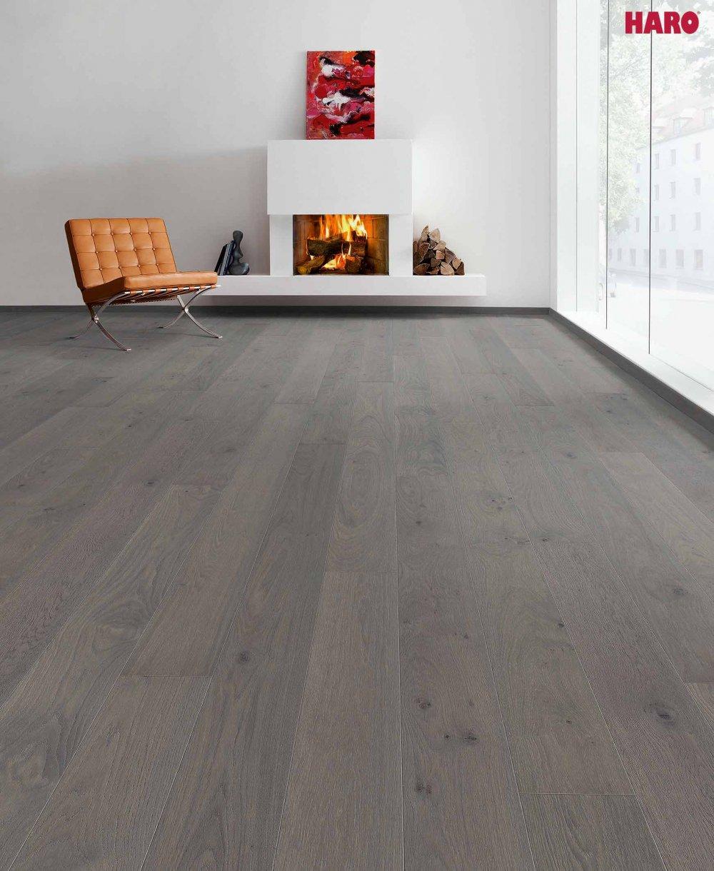534847 haro parkett landhausdiele 4000 eiche puro vulcano markant natur strukturiert 4v fase. Black Bedroom Furniture Sets. Home Design Ideas