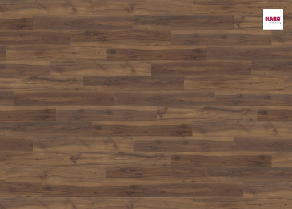 535241 haro laminat tritty 90 landhausdiele 4v nussbaum romano matt. Black Bedroom Furniture Sets. Home Design Ideas