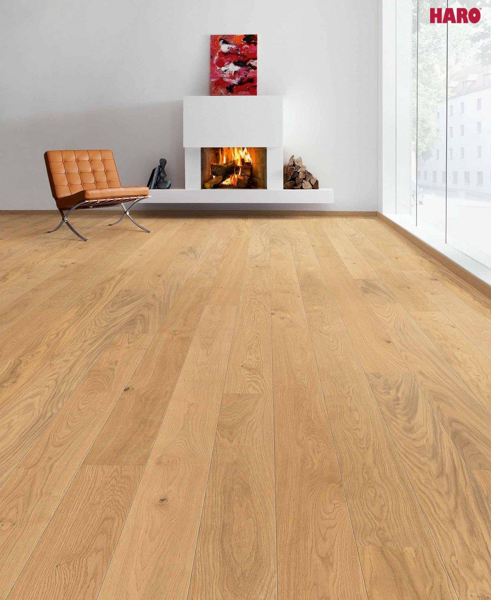 535447 haro parkett landhausdiele 4000 eiche markant natur strukturiert 2v fase naturadur lackiert. Black Bedroom Furniture Sets. Home Design Ideas