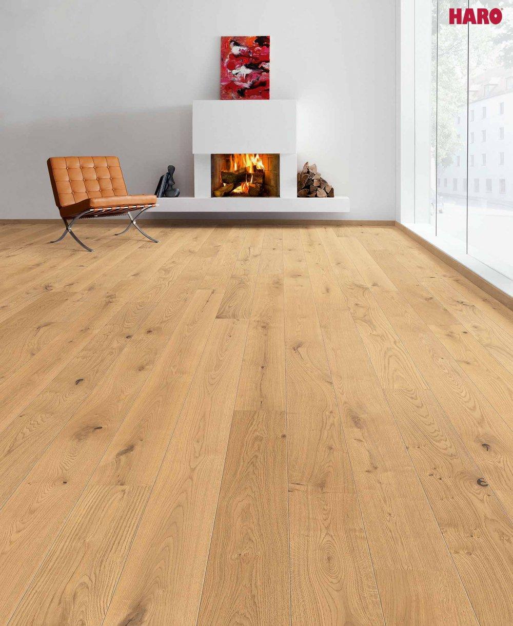 535448 haro parkett landhausdiele 4000 eiche sauvage strukturiert 2v fase naturadur lackiert. Black Bedroom Furniture Sets. Home Design Ideas