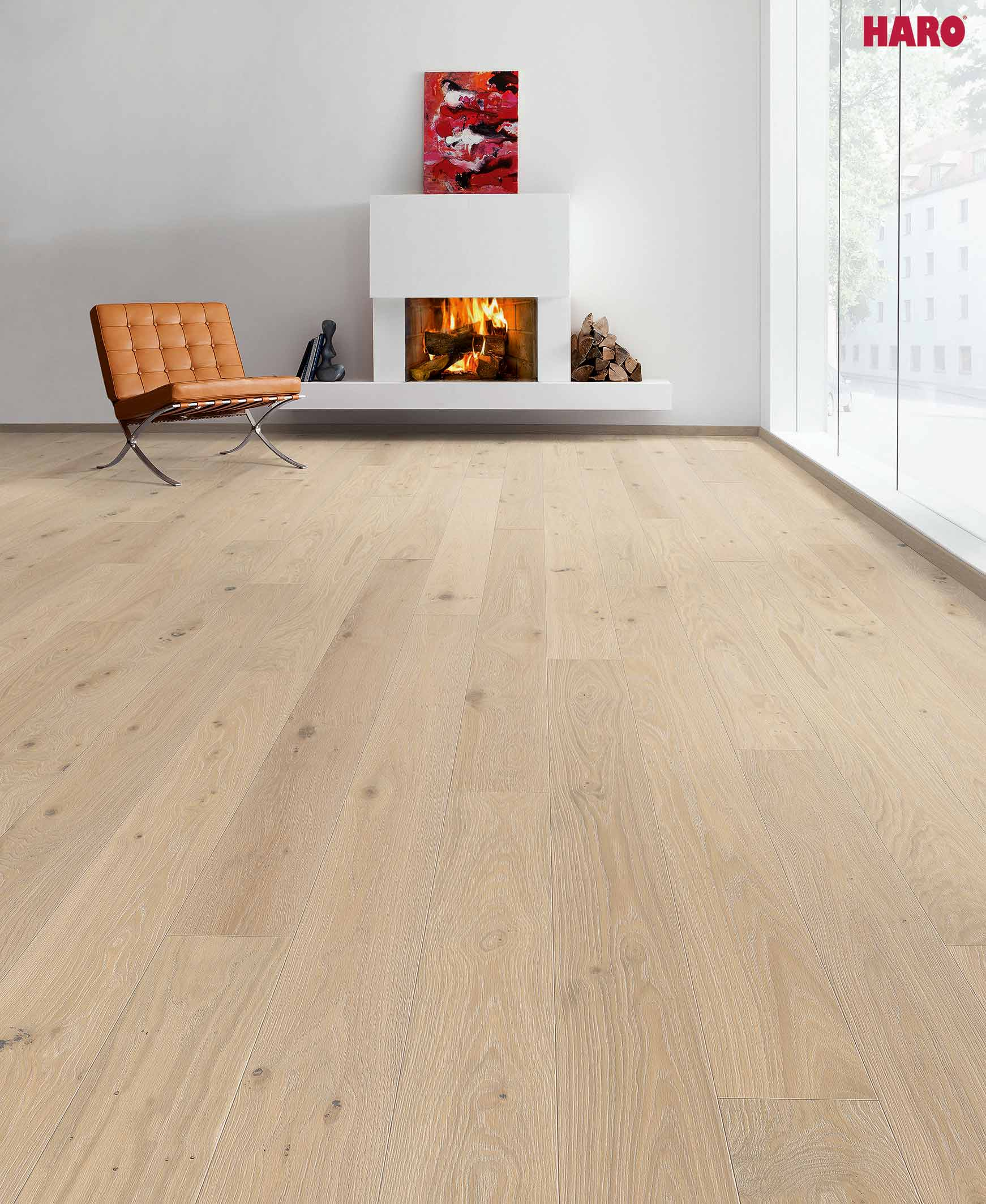 535542 haro parkett landhausdiele 4000 eiche cremeweiss gekalkt sauvage rustico strukturiert 4v. Black Bedroom Furniture Sets. Home Design Ideas