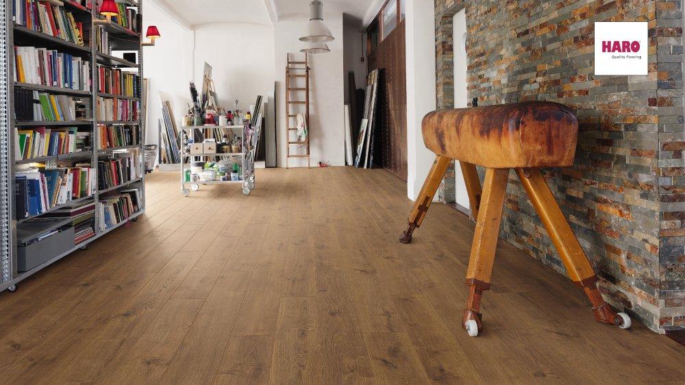 535644 haro laminat tritty 250 landhausdiele 4v eiche. Black Bedroom Furniture Sets. Home Design Ideas