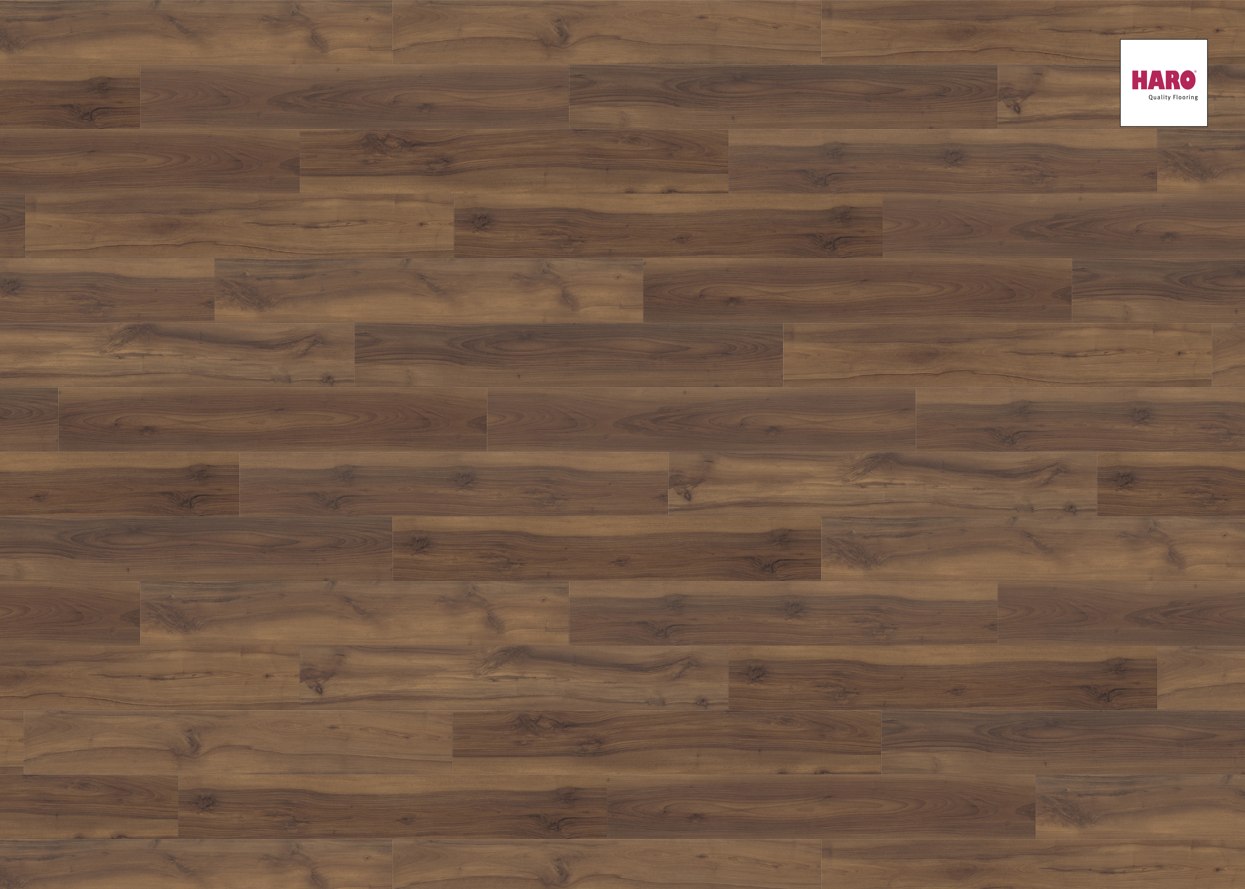 535241 haro laminat tritty 90 landhausdiele 4v nussbaum. Black Bedroom Furniture Sets. Home Design Ideas