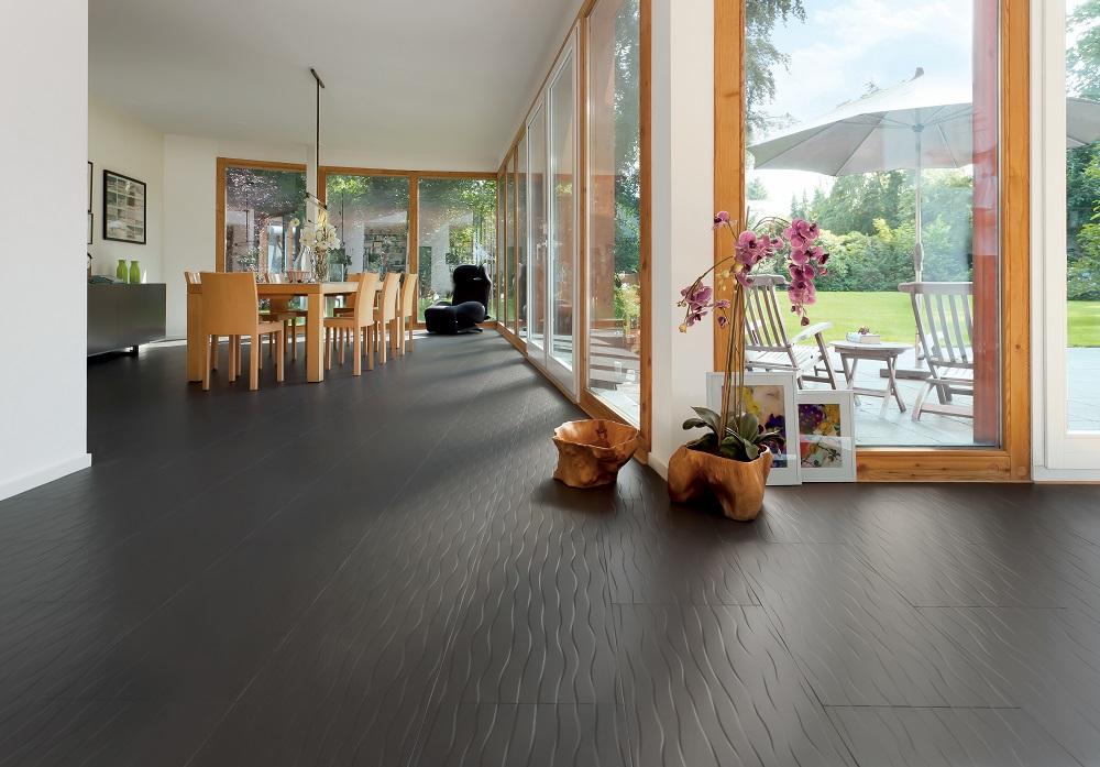 528655 haro celenio dunas anthrazit wellendesign einfarbig. Black Bedroom Furniture Sets. Home Design Ideas