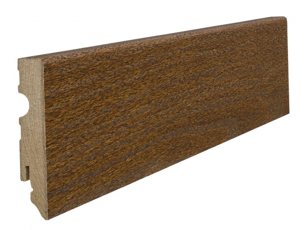 408509 haro fussleiste eiche kupferbraun 15 x 80 mm kubus. Black Bedroom Furniture Sets. Home Design Ideas