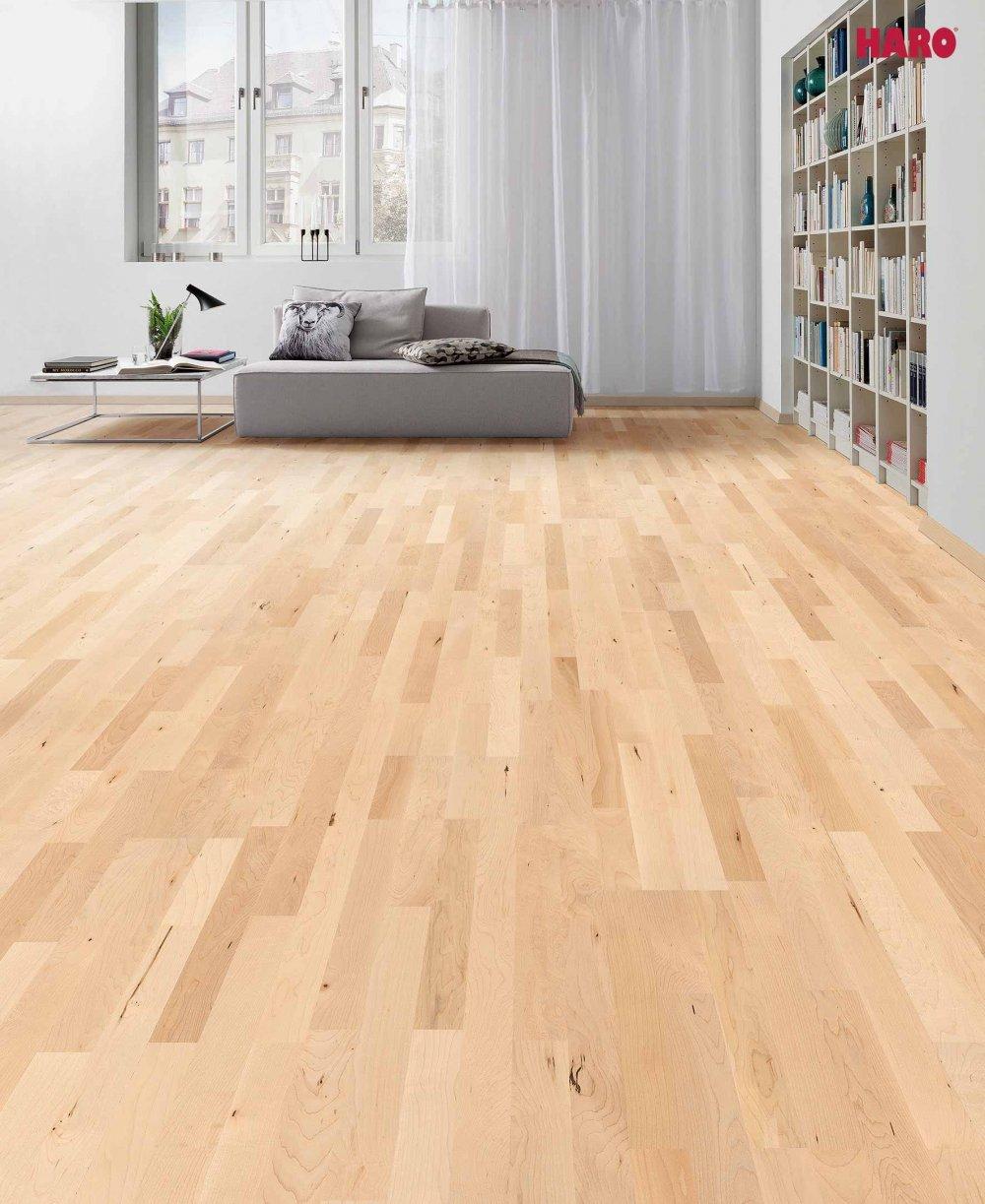 524406 haro parkett 3 stab schiffsboden 4000 canadischer ahorn tundra lackiert. Black Bedroom Furniture Sets. Home Design Ideas