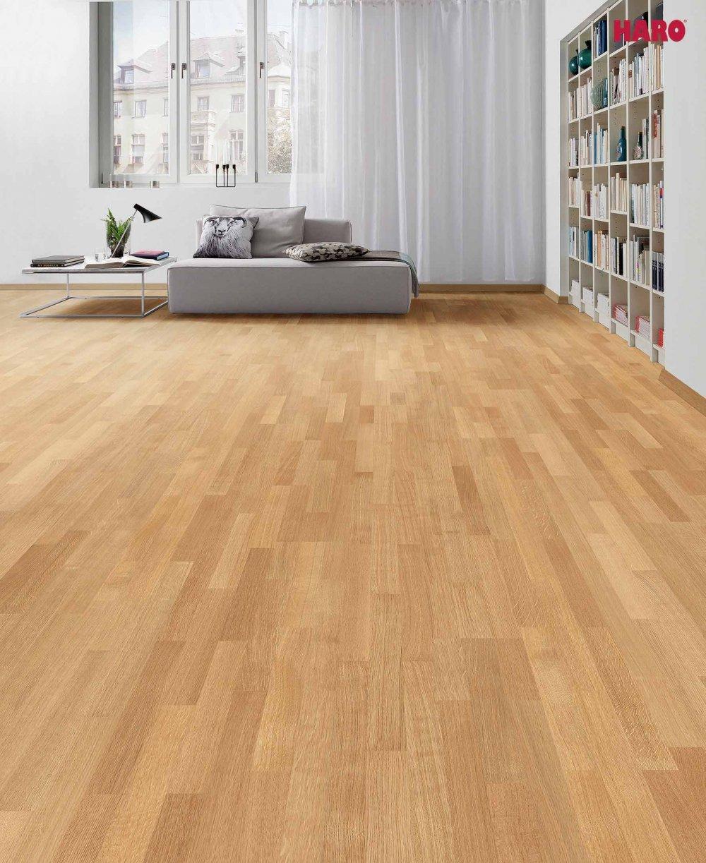 524689 haro parkett 3 stab schiffsboden 4000 eiche exquisit permadur versiegelt lackiert. Black Bedroom Furniture Sets. Home Design Ideas