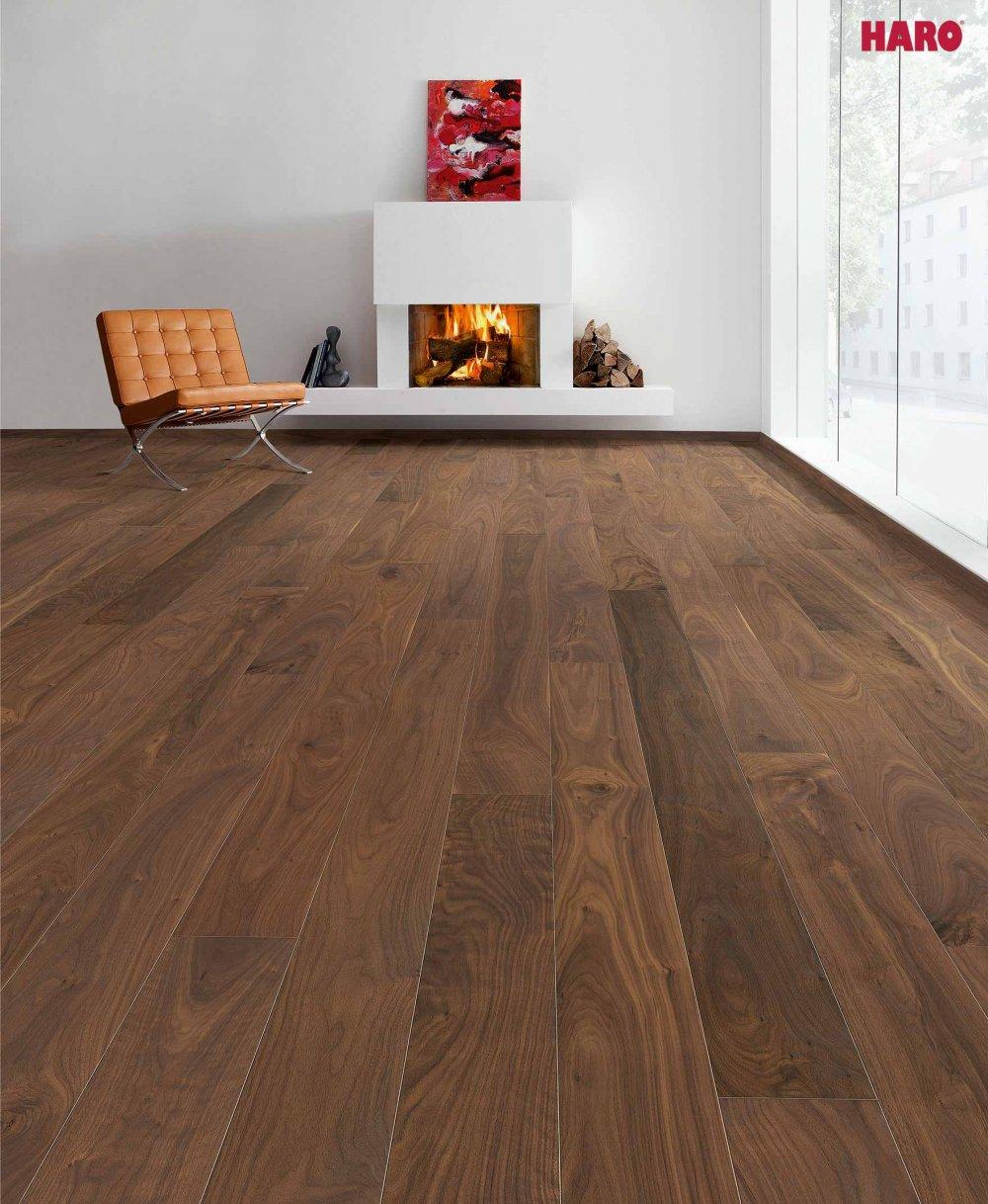 533051 haro parkett landhausdiele 4000 amerikanischer nu baum nussbaum markant natur 4v fase. Black Bedroom Furniture Sets. Home Design Ideas
