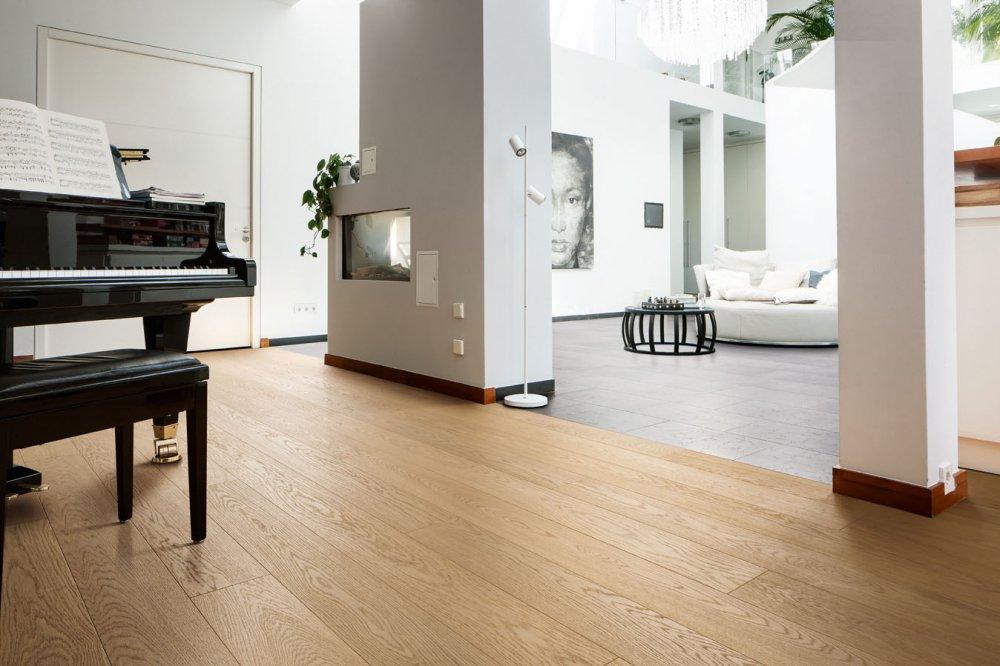 Parkettboden eiche weiß  531679 Haro Parkett Landhausdiele 4000 Eiche weiss Exklusiv select ...