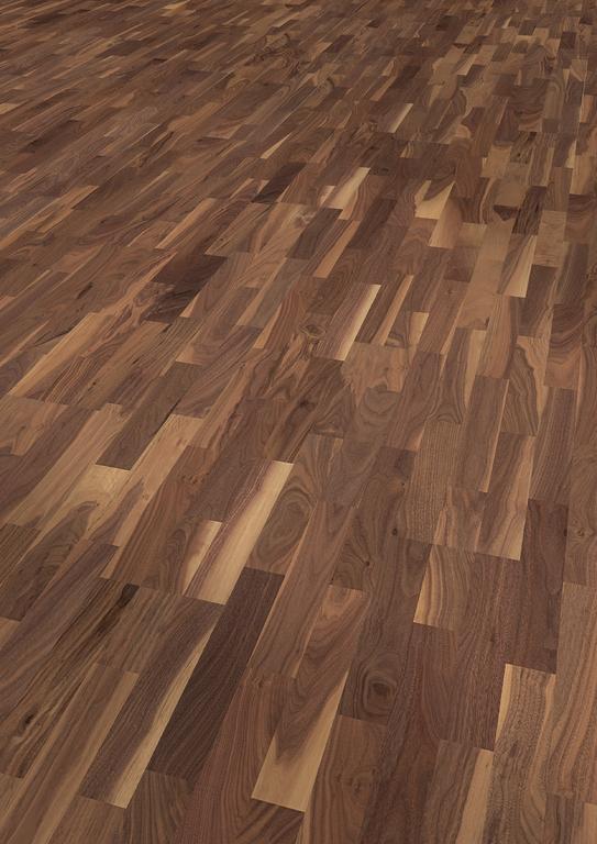 parkett nussbaum warmes ambiente kraftvolle farben. Black Bedroom Furniture Sets. Home Design Ideas