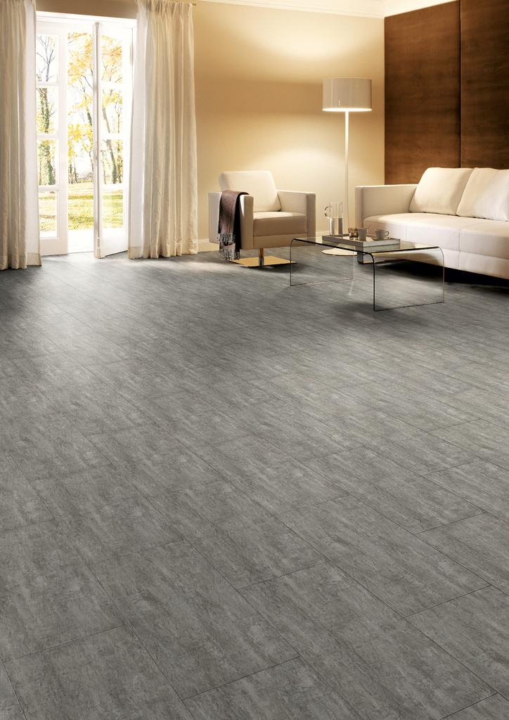 V Tilo Vinyl Steinoptik Design Eleganto Concrete Natur Wave Gefast - Vinylboden selbstklebend steinoptik