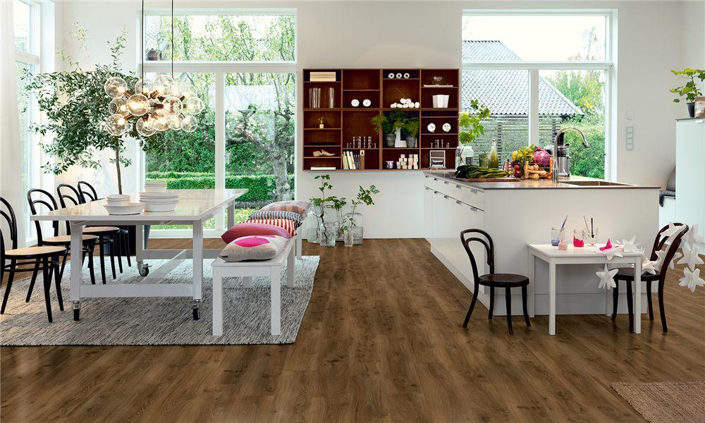 Fußboden Vinyl Modern ~ V  pergo vinyl landhausdiele premium klick eiche kaffee